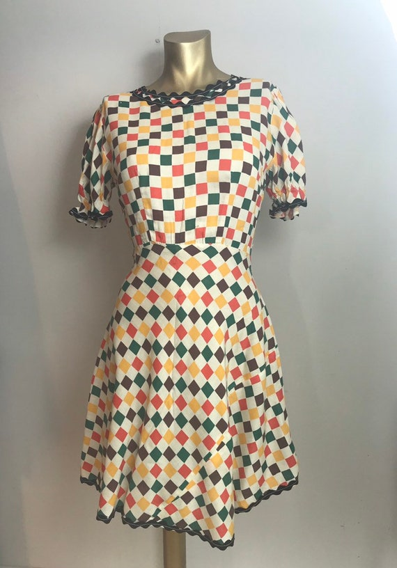 1930's Theatre Jacquard Dance Dress