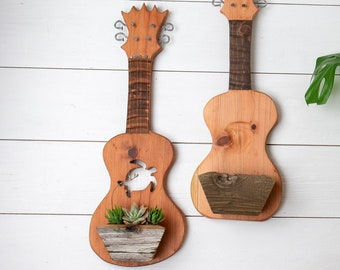 Turtle ukulele planter for succulents, airplants or any of your favorite small plants!