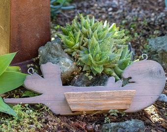 Sea otter planter , Succulent hanging planter , beach decor , vertical garden , wood wall art ,  sealife  - Get gift ideas!