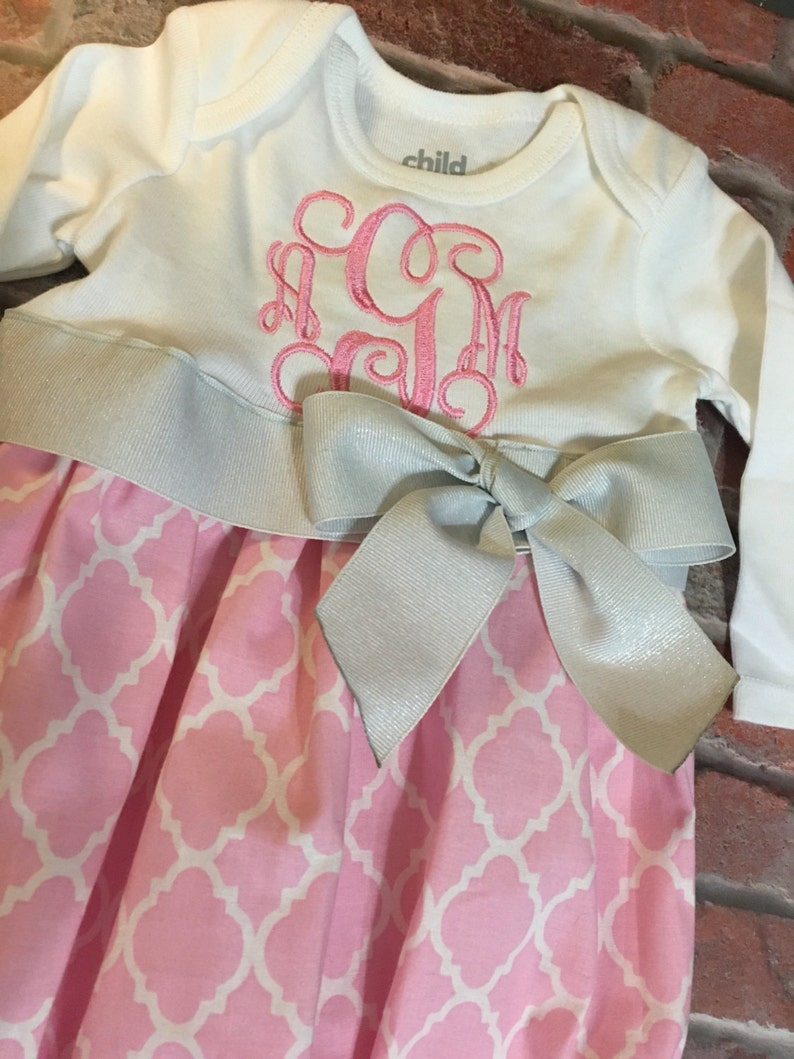 Handmade gown; coming home outfit; baby layette; personalized free