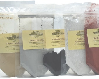 Clay Sampler - 5oz - for Soap Making, Cosmetics, and Masks