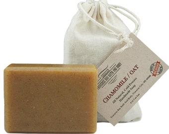 Chamomile Oat, all natural handmade soap, Cold process vegan soap