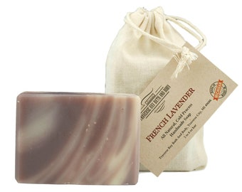 French Lavender, all natural handmade soap, Cold process vegan soap