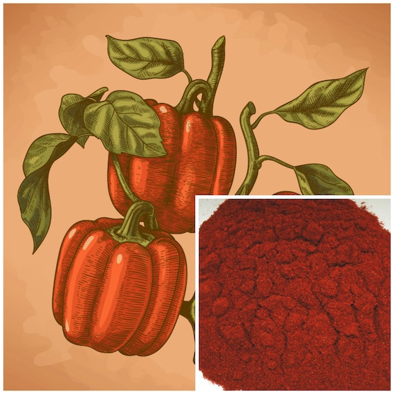 Paprika Powder, soap making supplies, also for herbal extracts, tinctures,  teas, salves, creams, lotions or lip balms