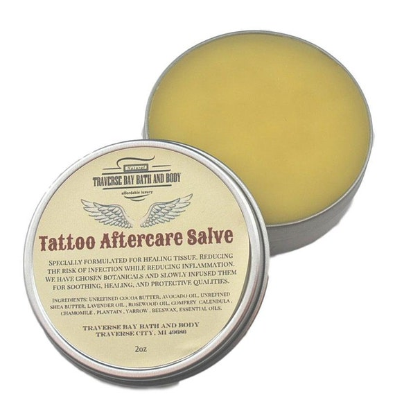Tattoo Aftercare Salve All Natural Tattoo Salve Tattoo Etsy
