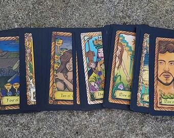 Unique Tarot Deck | 78 Card Tarot Deck | Beginning Tarot Deck | Handmade Tarot | Divination Tools | Modern Tarot Deck | The Conspiracy Tarot