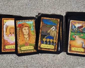 Baraja de Tarot Única | Baraja de Tarot de 78 Cartas | Tarot para Principiantes | Tarot hecho a mano |  Tarot Moderno | Tarot Conspiratorio