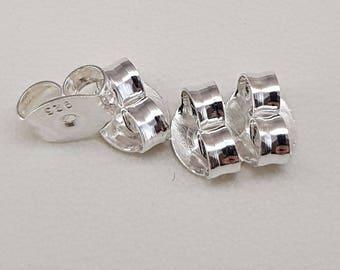 Sterling 925 silver - butterfly earring backs - Spare Butterfly Earring Backs - Ear stud backs and findings