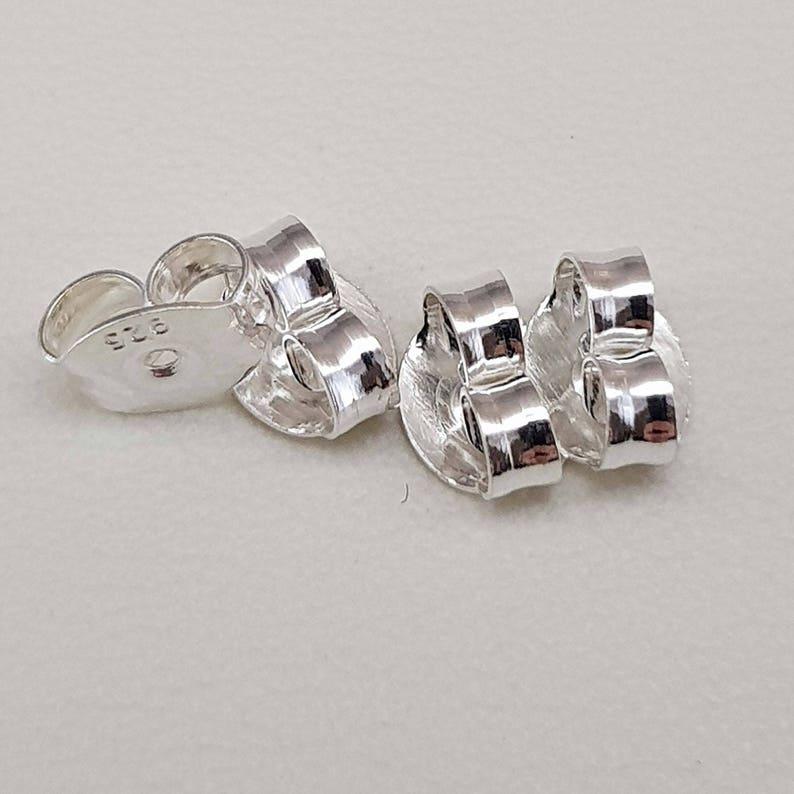 9e102fd4c Sterling 925 Silver Butterfly Earring Backs Puh Backs | Etsy