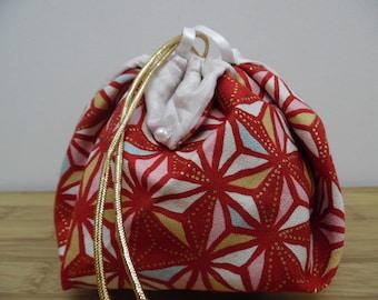 Chaplain in Japanese fabric asanoha and silk