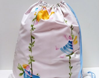 Hand-painted designer fabric toy bag
