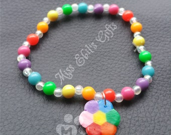 Rainbow Flower Bracelet