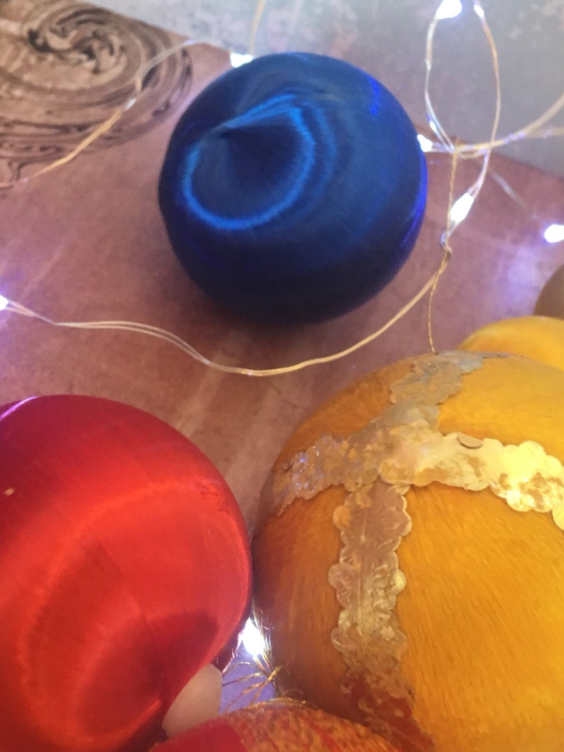 Satin christmas decorations for repair or crafts