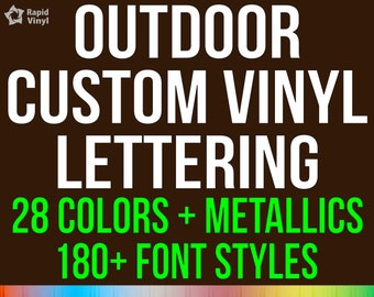 Custom Vinyl Lettering Decal - Sticker Outdoor Use On Auto Car Truck Semi Boat Trailer Garage Hobby Projects & More