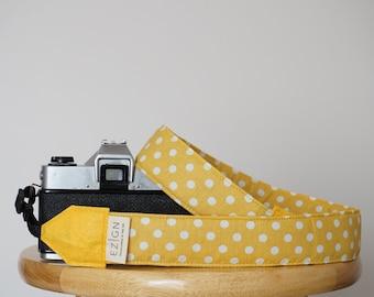 Photography Padded Camera Strap Cover,Neck Strap- REVERSIBLE- Padded- DSLR- Sushi Tempura Fish Polka Dots Photographer Thank You Gift