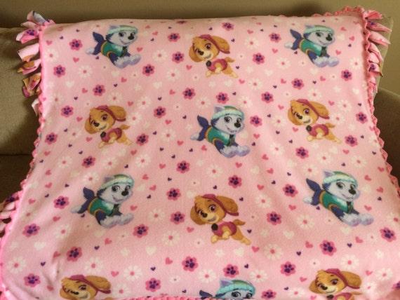 Paw Patrol Fleece Blanket, Toddler Blanket, Girl Fleece Blanket