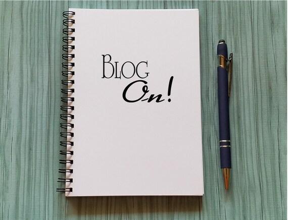 Blog Notebook Blog On  5 x 7 Journal Blog Ideas Blogger