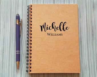 Personalized Notebook, [Custom Name] - 5 x 7 Journal, Journal for Women, Notebook, Gift, Bullet Journal, Best Friend Gift, Teacher Notebook