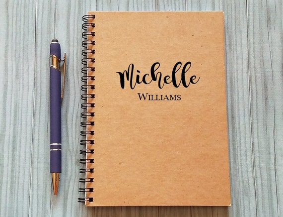 Personalized Notebook Custom Name  5 x 7 Journal Journal