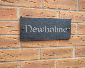 Modern Outdoor Contemporary Slate House Number, House Number Sign, House Address Sign, House Plaque