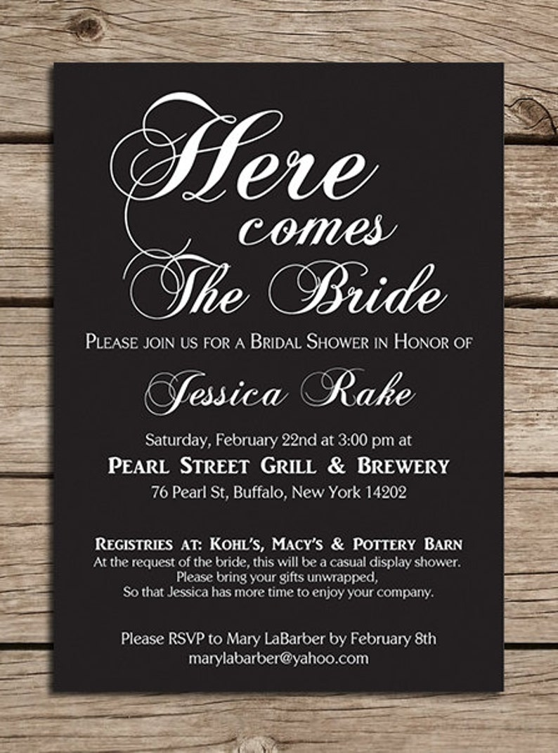 Made to order Downloadable File Wedding Many color options Printable Bridal Shower Invitation
