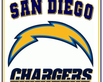 San Diego Chargers Glass Block Night Light