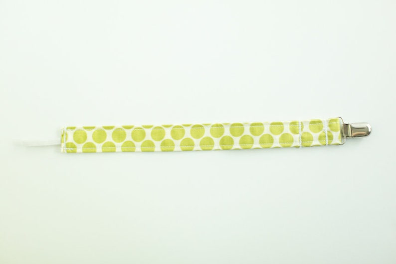 gift for new mom clip for pacifier stocking stuffer custom pacifier clips Green Polka Dot Pacifier Clips Set of 3 baby shower gift
