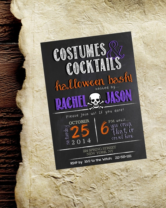 d34abac4d3a Halloween Invite   Invitation. Costumes   Cocktails.