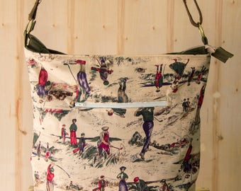 Vintage Golf Themed Cross-body, Handbag, Bag, Shopping Bag, Shoulder Bag, Purse, Vegan