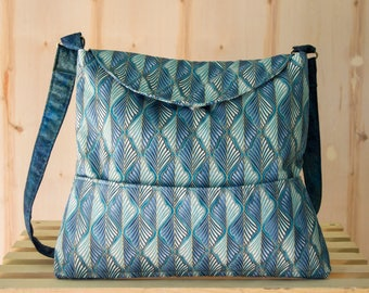 Blue Metallic Mini Cross-body, Handbag, Bag, Shopping Bag, Shoulder Bag, Purse, Vegan