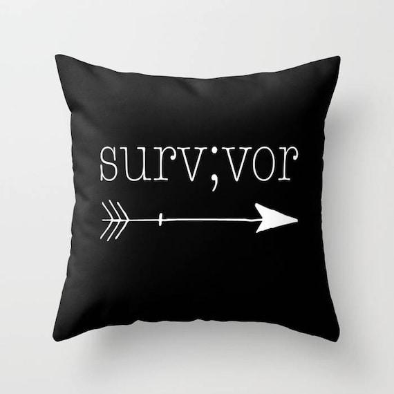 Warrior Pillow Semicolon Pillow