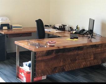 rustic desk etsy rh etsy com rustic industrial l shaped desk rustic l shaped office desk