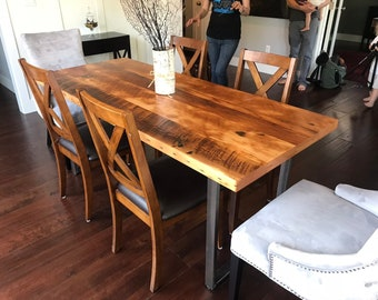 Kitchen Table. Dining Table. Reclaimed Wood Table. Rustic Table. Old Wood  Table. Confrence Table. Dining Room Table. Solid
