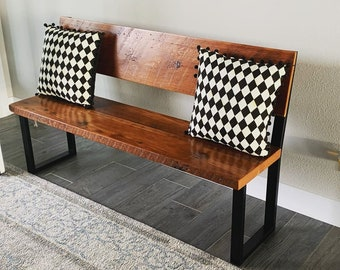 Dining Bench With Back Etsy