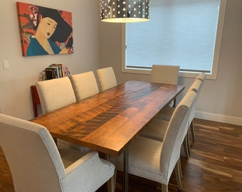 Industrial Table. Kitchen Table. Dining Table. Reclaimed Wood Table. Rustic Table. Conference Table. Thanksgiving. Dinner table. Solid wood.