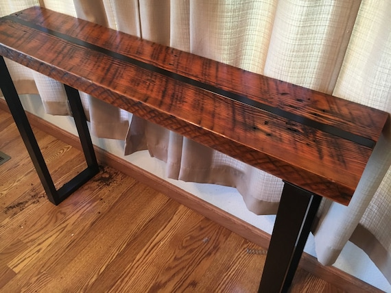 Admirable Reclaimed Wood Sofa Table Industrial Sofa Table Industrial Console Table Wood And Steel Table Industrial Media Stand Office Table Ibusinesslaw Wood Chair Design Ideas Ibusinesslaworg