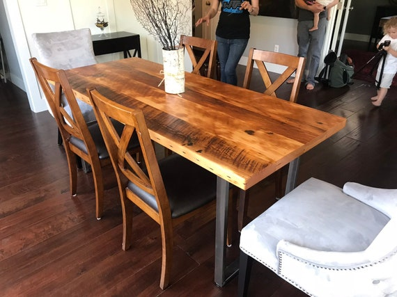 Industrial Table. Kitchen Table. Dining Table. Reclaimed Wood Table. Rustic  Table. Conference Table. Thanksgiving. Reclaimed Wood Desk.
