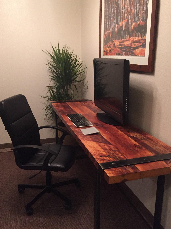 Industrial Desk Reclaimed Wood Desk Rugged Desk Wood And