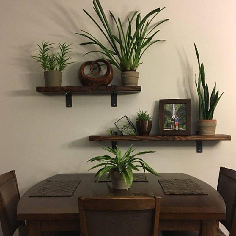 Industrial Shelf. Reclaimed Wood Shelf. Wood And Steel Shelf. Old Wood  Shelf. Rustic Shelf. Kitchen Shelf. Barn Wood Shelf. Custom Shelf.