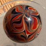 Round, Cabinet Knob, Glass Drawer Pull, Red, Black, Amber DP002  Round Hand Blown Glass
