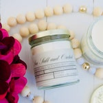 Gold Heart Candle in Sea Salt and Orchid