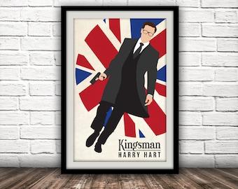 Kingsman-Inspired Movie Poster - Fan Art, Minimalist