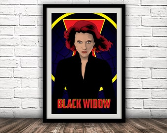 Marvel's Black Widow-Inspired Movie Poster