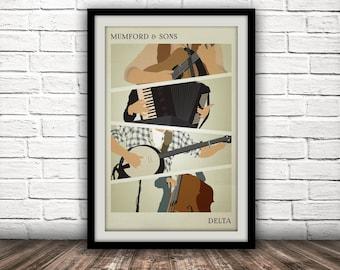 Mumford & Sons - Delta Inspired Poster