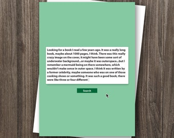 Library Workers Day Greeting Card - 5x7 printed card, comes with envelope