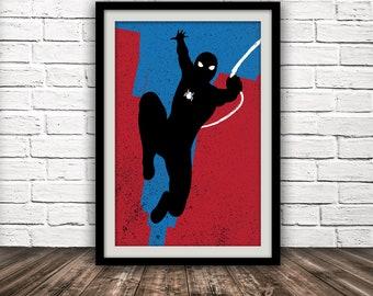 Marvel's Spider-Man-inspired poster - Fan Art, Minimalist, Avengers