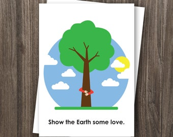 Earth Day Greeting Card (Slightly Raunchy) - 5x7 printed card, comes with envelope