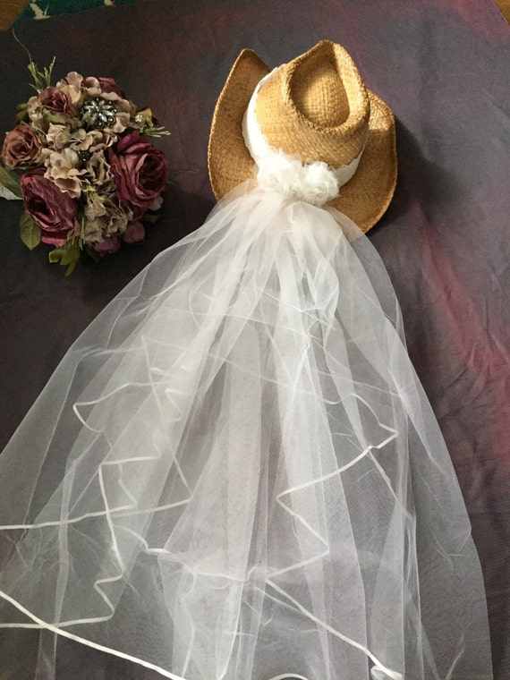 Cowgirl hat-Western cowboy-bride cowgirl hat-bride hat with  c212e7a2f27