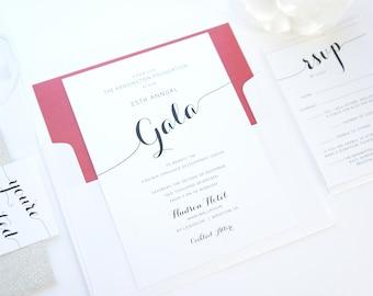 corporate gala invitation company event invitation corporate etsy
