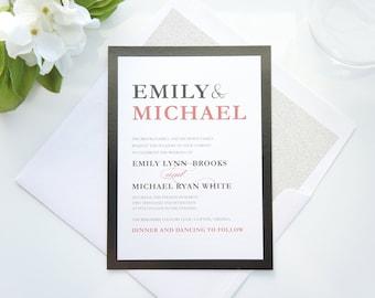 black red wedding invitations etsy